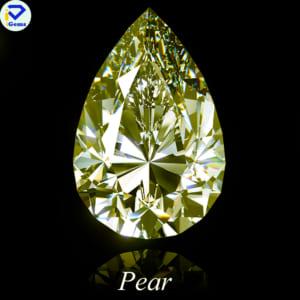 Kim Cương Nhân Tạo Moissnaite Màu vàng Giác Cắt Pear