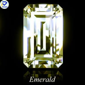 Kim Cương Moissanite Màu Vàng Giác Cắt Emerald