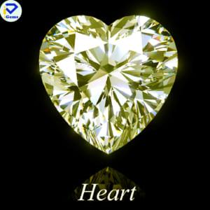 Kim Cương Nhân Tạo Màu Vàng giác cắt hình trái tim