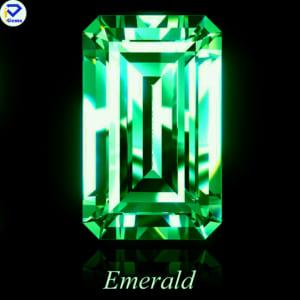 Kim Cương Moissanite Màu Xanh Lá Giác Cắt Emerald