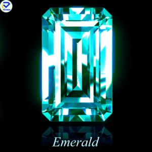 Kim Cương Moissanite Màu Xanh Dương Giác Cắt Emerald