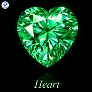 Kim Cương Moissanite Màu Xanh Lá Hình Heart