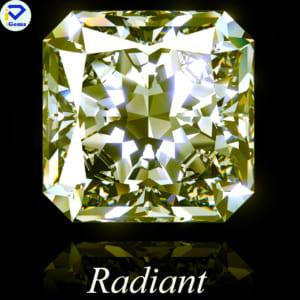Kim Cương Nhân Tạo Màu Vàng giác cắt radiant
