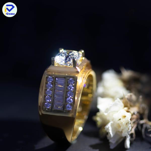 kim cương nhân tạo moissanite màu xanh dương